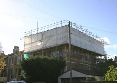 Temporary False Roof Installed by Hercules Scaffolding