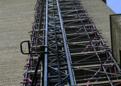 High Rise Scaffold Tower with Goods Passenger Hoist by Hercules Scaffolding